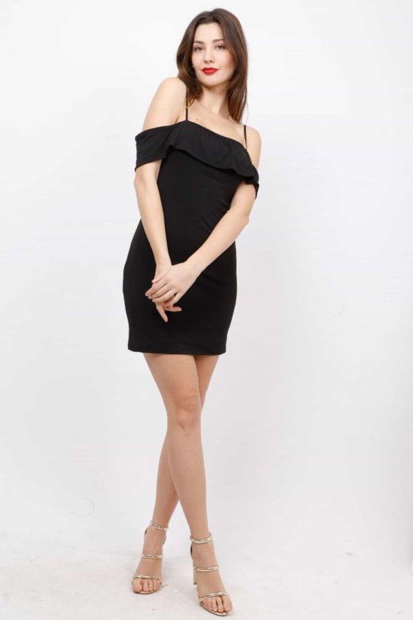 Mini φόρεμα με λεπτή τιράντα Coocu