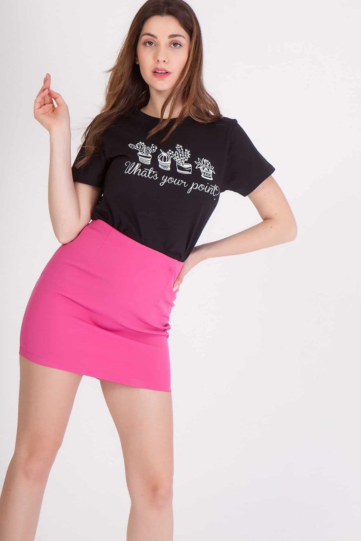 Κοντή φούστα εφαρμοστή Coocu