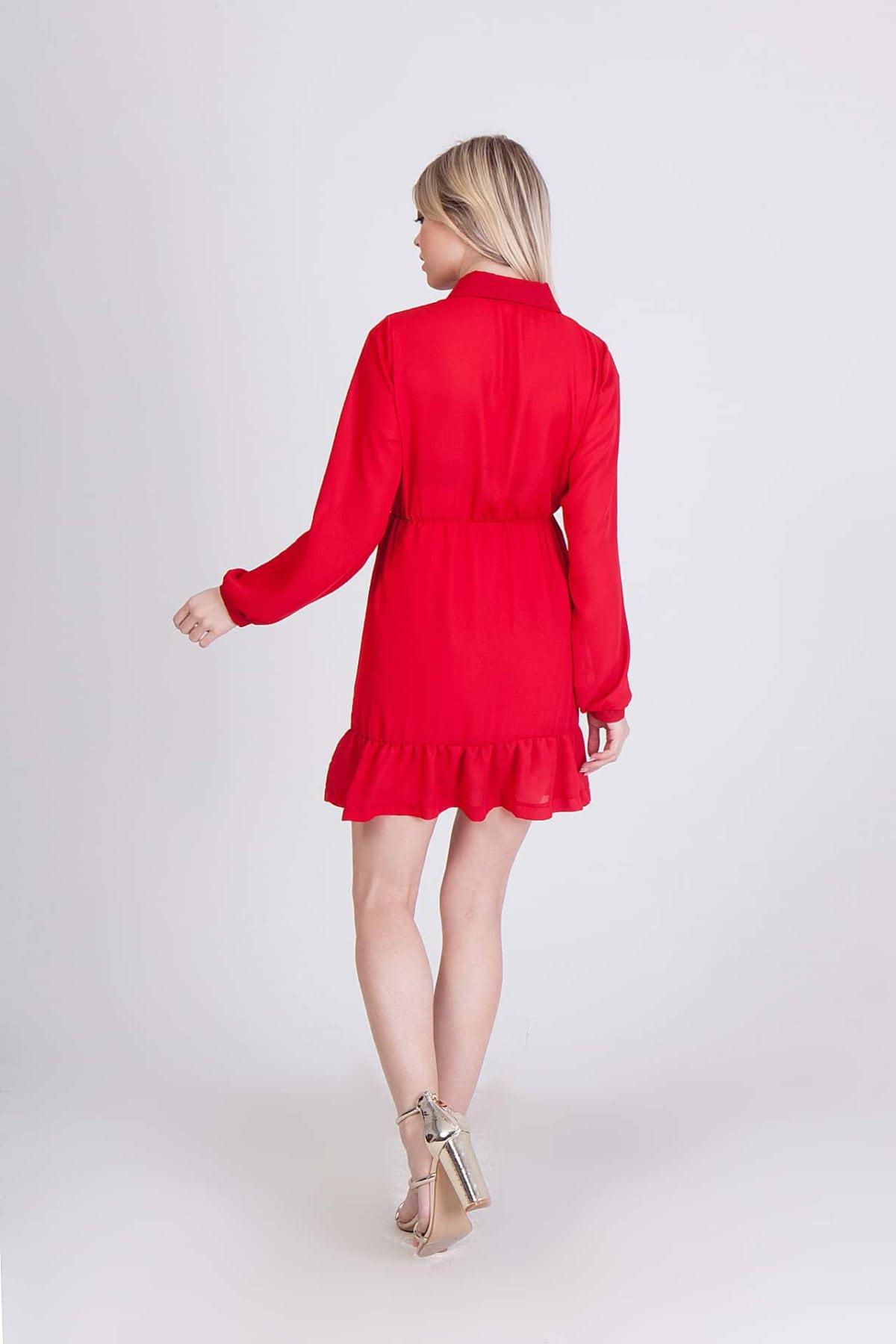 Κοντό φόρεμα μακρυμάνικο Coocu