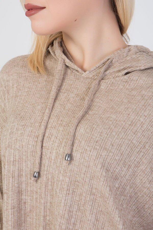 Μπλούζα με κουκούλα μακρυμάνικη Coocu