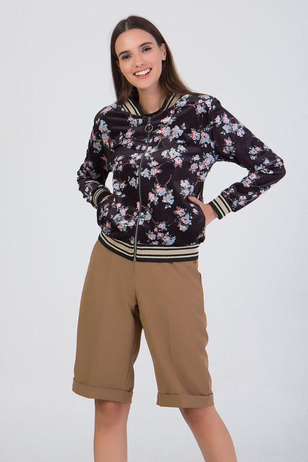 Jacket velvet floral Benissimo