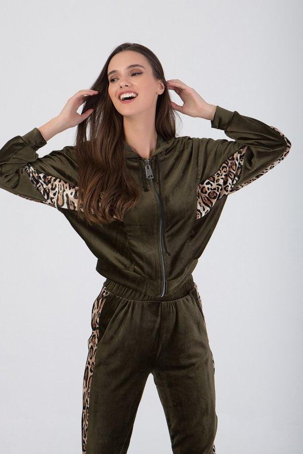 Jacket με animal print  Benissimo