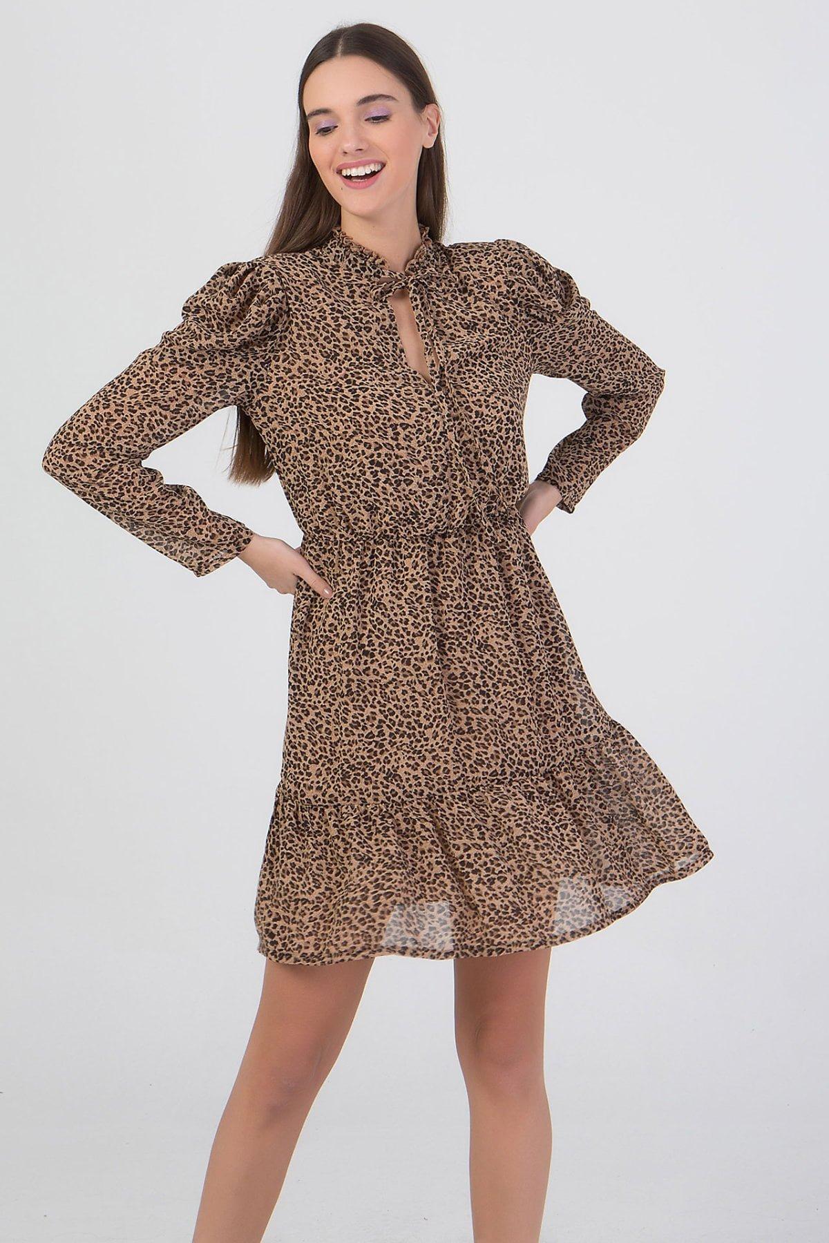 Φόρεμα εμπριμέ κοντό Benissimo