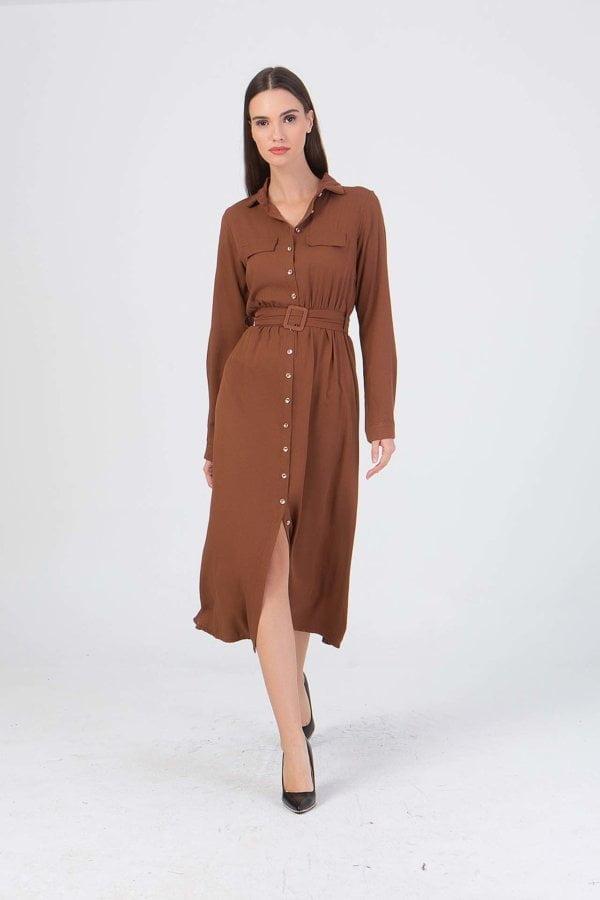 Φόρεμα με κουμπιά μπροστά Benissimo