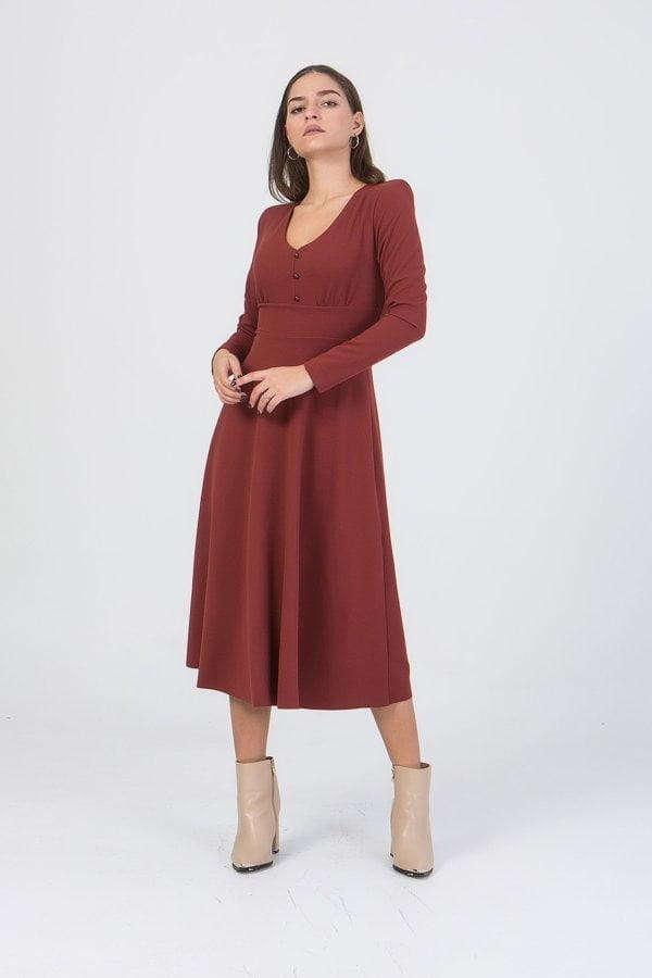 Φόρεμα κλος midi Benissimo
