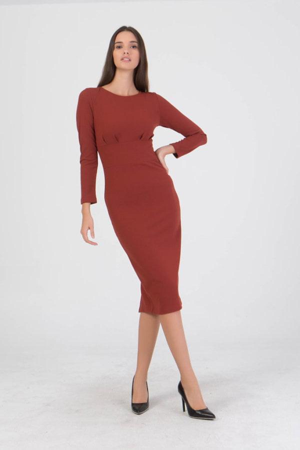 Φόρεμα midi μακρυμάνικo Benissimo