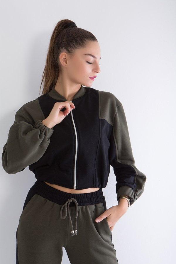 Jacket δίχρωμο με φερμουάρ  Coocu