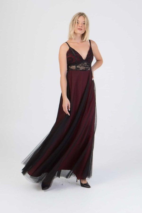Φόρεμα δαντέλα Coocu