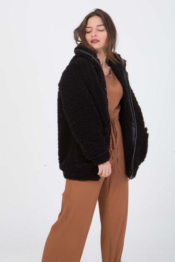 Jacket  με φερμουάρ και τσέπες  Coocu