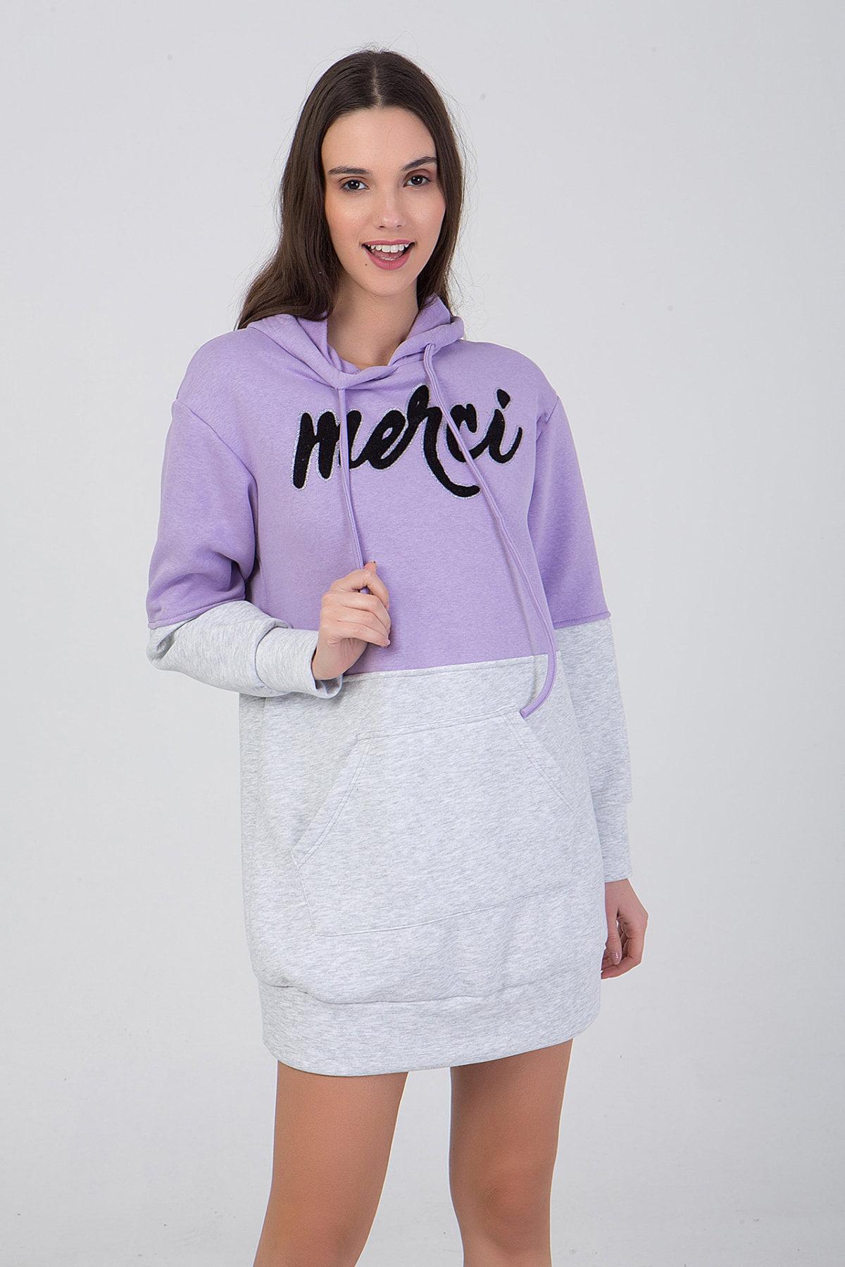 Μπλούζα δίχρωμη με τύπωμα και κουκούλα Frozen Berry