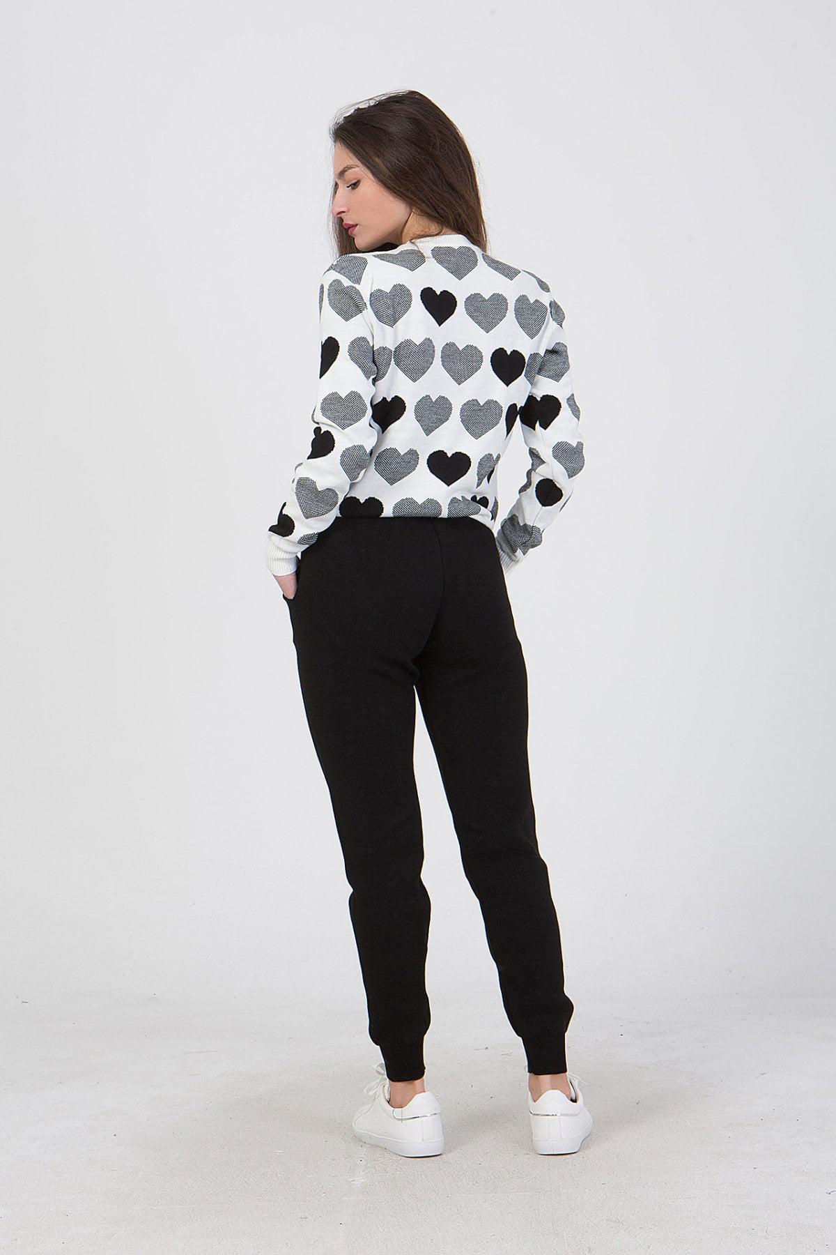 Σετ μπλούζα με σχέδιο καρδουλες -παντελόνι Benissimo