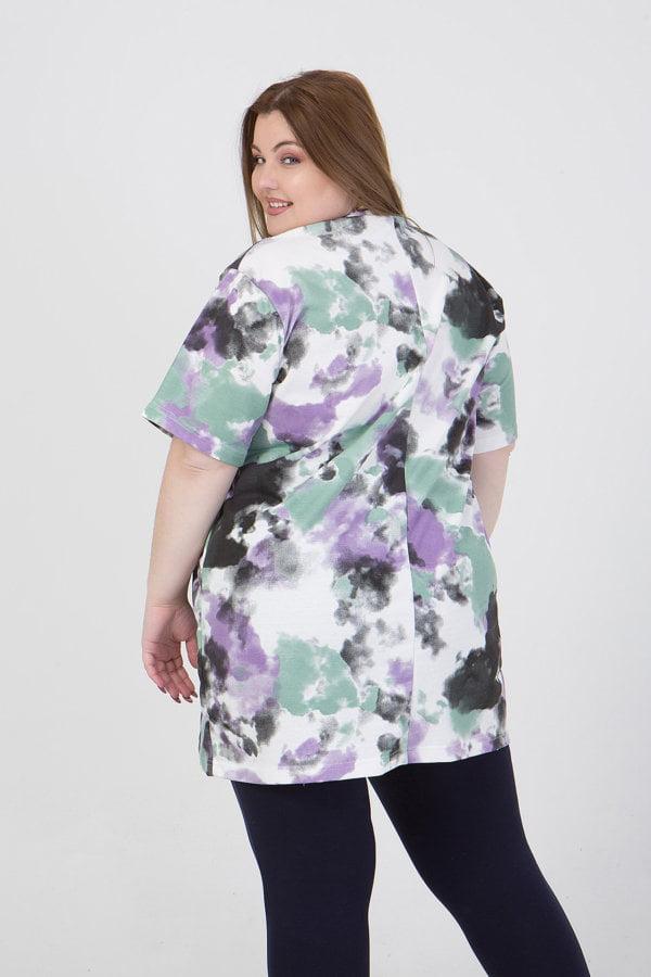 Μπλούζα με σχέδιο μπατίκ κοντομάνικη HONEY