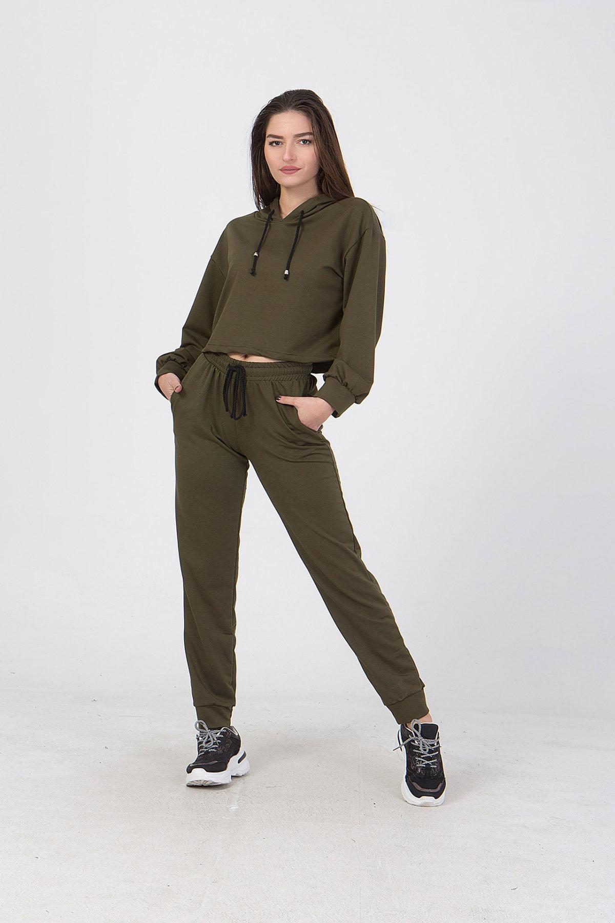 Παντελόνι με λάστιχο στη μέση και στο τελείωμα Coocu