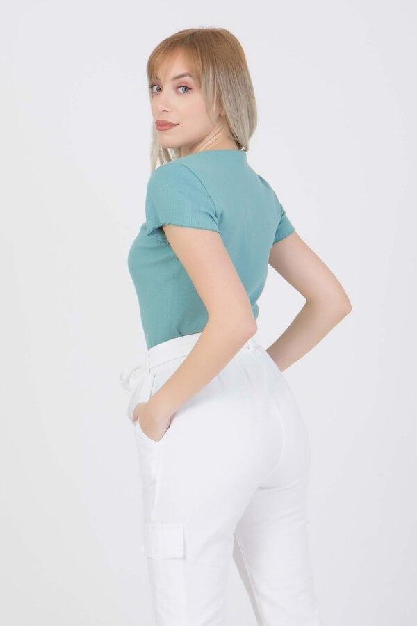 Μπλούζα με V-λαιμόκοψη κοντομάνικη  Benissimo