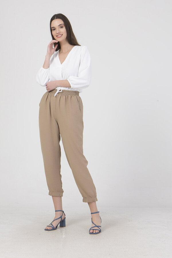 Παντελόνι με λάστιχο στη μέση και με τσέπες Benissimo