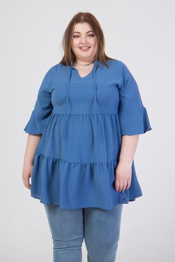 Μπλουζοφόρεμα με τρουα καρτ μανίκια Honey