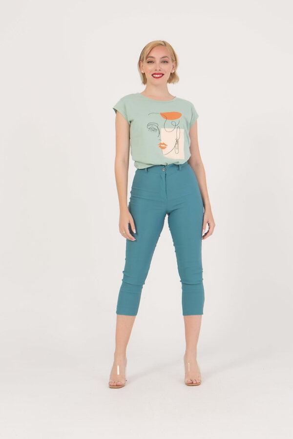 Capri παντελόνι με κουμπιά και φερμουάρ Benissimo