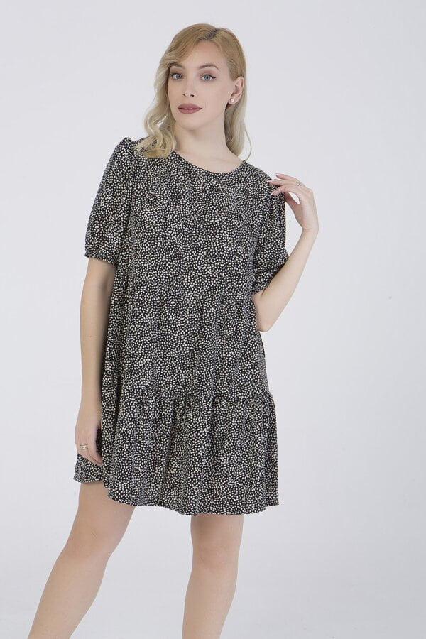 Φόρεμα εμπριμέ κοντομάνικο Benissimo