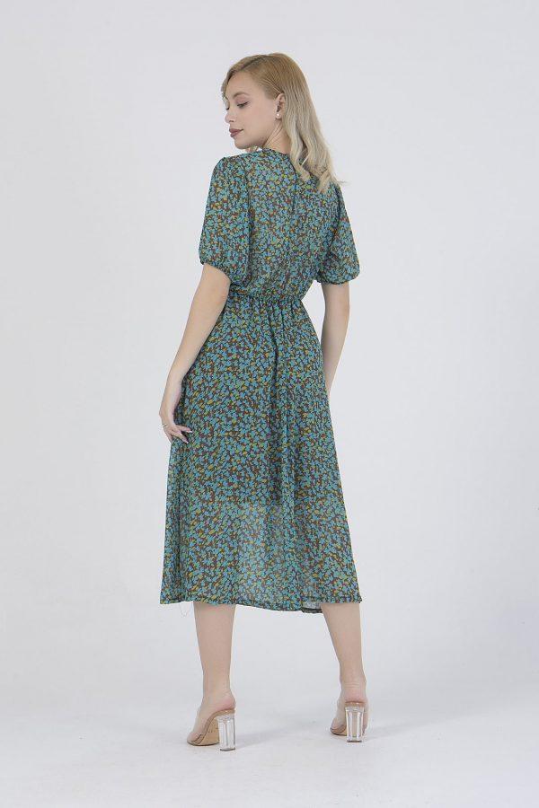 Φόρεμα midi εμπριμέ κρουαζέ Benissimo