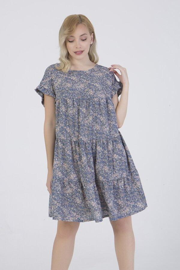 Φόρεμα κοντο εμπριμέ κοντομάνικο Benissimo