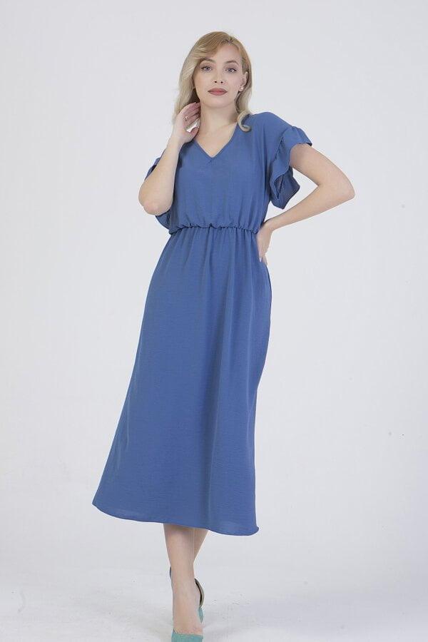Φόρεμα midi με λάστιχο στη μέση Benissimo