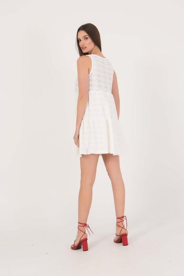 Φόρεμα κοντό κιπούρ αμάνικο Benissimo