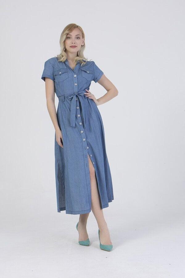 Φόρεμα midi denim Benissimo