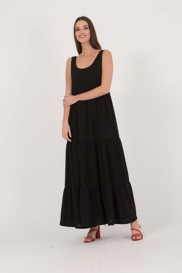 Φόρεμα maxi αμάνικο Benissimo