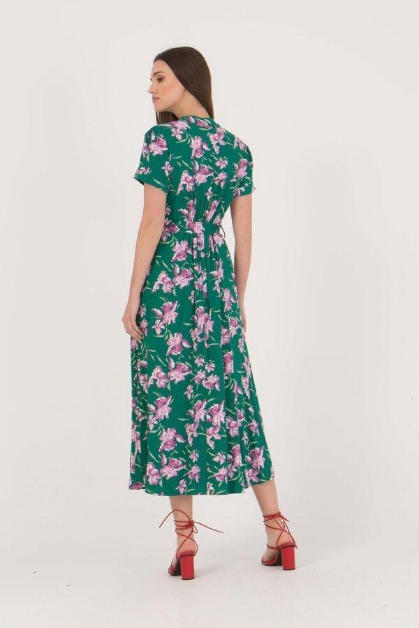 Φόρεμα φλοράλ με σκίσιμο στο πλάι Benissimo
