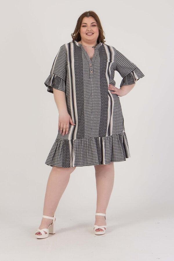Φόρεμα κοντό με V -λαιμόκοψη Ηoney