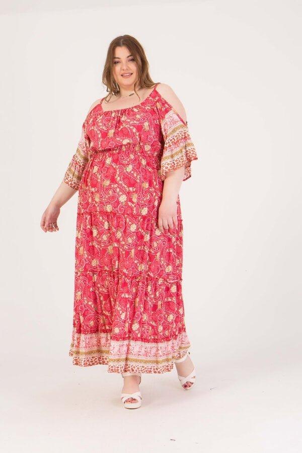 Φόρεμα maxi με άνοιγμα στα μανίκια Honey