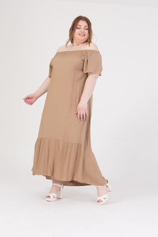 Φόρεμα maxi με παρτούς ώμους Honey