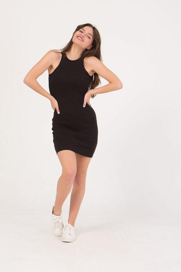 Φόρεμα κοντό εφαρμοστό με παρτούς ώμους Frozen Berry
