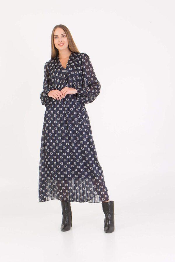 Εμπριμέ Φόρεμα με λάστιχο στην μέση Benissimo